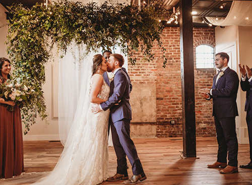 Kelly Wedding at The Depot Warehouse in Columbus, MS Catering by Elements MS