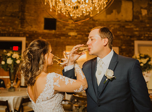 Real Wedding:The Gesslin Wedding at The Depot Warehouse in Columbus MS - catering by Elements MS