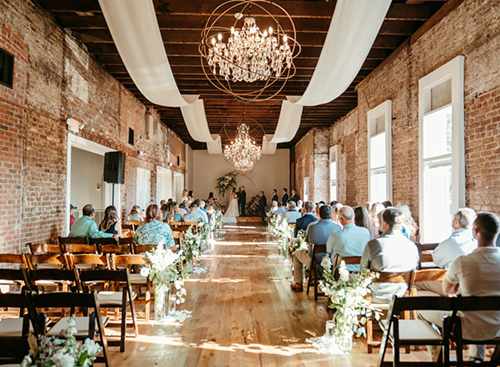 Johnson Wedding at The Depot Warehouse in Columbus MS - Catering & Florals by Elements MS
